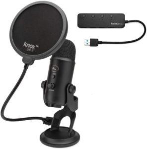 blue yeti blackout usb microphone